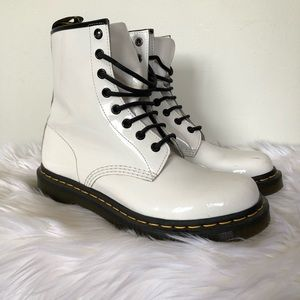 White Doc Martin Boot